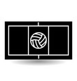 icon playground volleyball vector image
