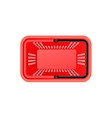 Isolated Supermarket Basket Top View vector image