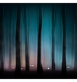 Monsters in forest vector image