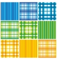 Seamless colorful fabric pattern vector image
