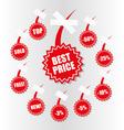 shopping sales tag vector image