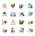 Taxes business and finance icons vector image vector image