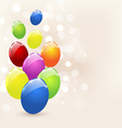 Easter set colorful eggs holiday background vector image vector image