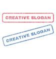 creative slogan textile stamps vector image