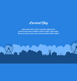 flat of amusement park scenery silhouette vector image
