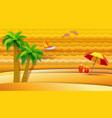 tropical sea holidays vector image