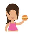 fat woman cartoon vector image