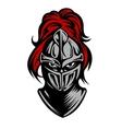 Medieval dark knight vector image