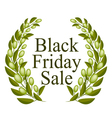 A Beautiful Olive Wreath for Black Friday Sale vector image vector image