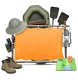 Camping Frame vector image