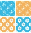Atom pattern set colored vector image