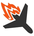 Air Crash Icon vector image