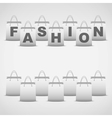 Background shopping bag and inscription fashion vector image