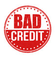 bad credit stamp vector image