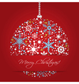Bright Christmas balls background vector image