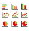 business data elements and charts vector image