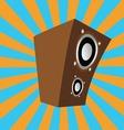 Cartoon style speaker vector image