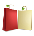 Eco shopping bags vector image