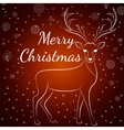Merry Christmas brown deer vector image