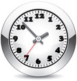 vector metal clock vector image
