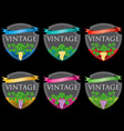 wine labels31 vector image vector image