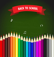 Welcome back to school with colour pencils vector image