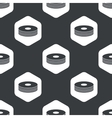 Black hexagon compact disc pattern vector image vector image