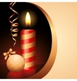 candle and ball vector image vector image