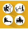 Pictogram doing activity design vector image