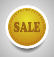 Sale stitched label vector image vector image