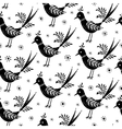 Black and White folk pattern vector image