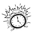 cartoon of the classicl alarm clock ringing vector image