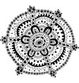 doodle mandala coloring page for adults cartoon vector image
