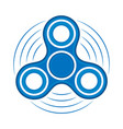 fidget spinner colored icon hand rotation vector image