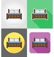 furniture flat icons 06 vector image
