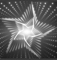 infinite star twisted tunnel of vector image