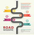 infographic with top view on road with data vector image