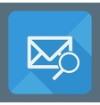 Mail icon envelope with magnifying glass Flat vector image