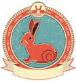 Rabbit label vector image