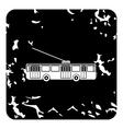 Trolleybus icon grunge style vector image