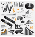 various infographics 3d graphs for your business vector image