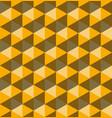 yellow hexagonal pyramids seamless pattern vector image