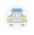 Cartoon car gray color vector image