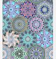 oriental seamless pattern with mandala vector image
