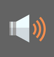 music player icon audio listening app button vector image
