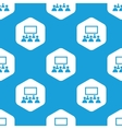 Audience hexagon pattern vector image