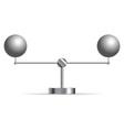 two metallic spheres vector image vector image