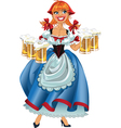 Octoberfest girl with beer vector image vector image