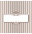 Beige elegant card vector image