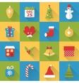 Flat Christmas icons set vector image